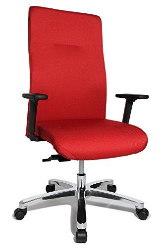 Topstar Big Star 20 inklusive höhenverstellbare Armlehne Bürostuhl, Stoff, rot, 67 x 67,5 x 130 cm