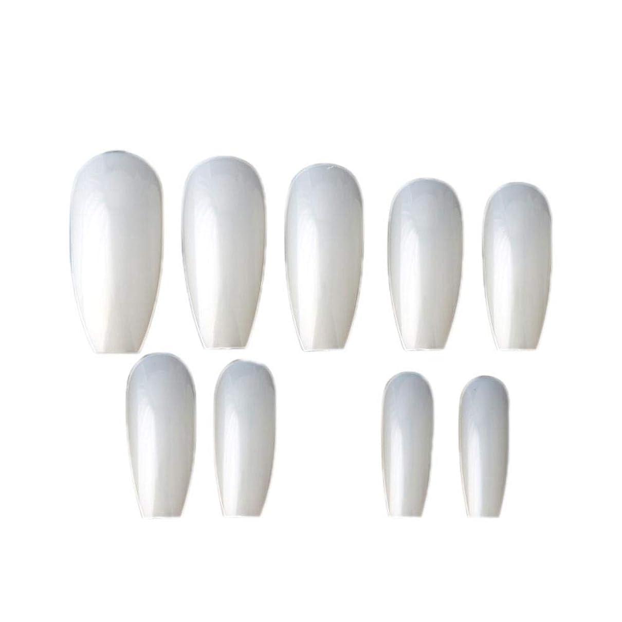 発生する世界良さネイルチップ つけ爪 ネイルアート 600枚入れ ネイル用品 無地 練習用 爪にピッタリ ホワイト ショートからロングまで総10サイズ junexi