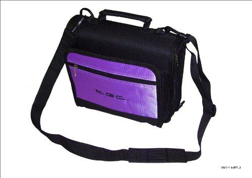 Nieuwe schoudertas voor de Philips PET1002 draagbare DVD-speler van TGC ®, Jet Black & Electric Paars