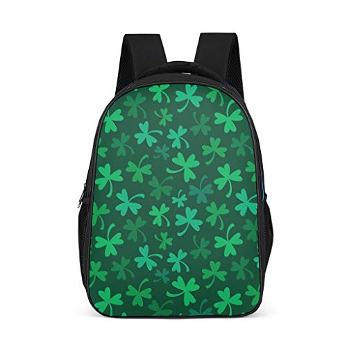 XHJQ88 St Patrick's Day Backpack Personalized Waterproof Daypack - Patterns Design Rucksack Unisex Suitable for High School Students Use, Holds 15.4-inch Computer Laptop Grey OneSize