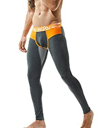 Men's long underpants in cotton with low rise.