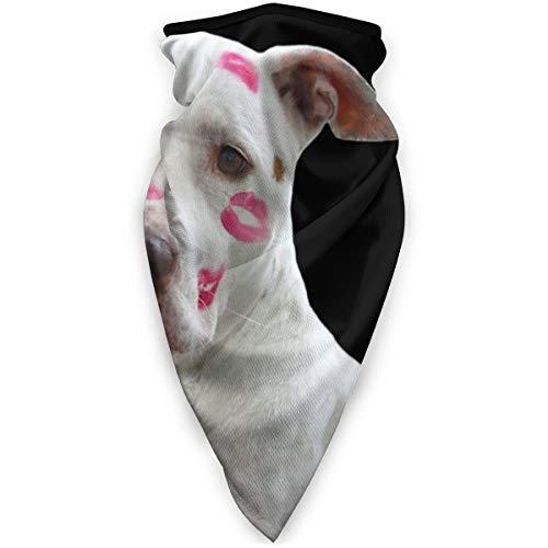 BJAMAJ witte Pitbull met lippenstift buiten gezicht Mond Mask Winddicht Sportmasker Ski Mask Shield Sjaal Bandana Mannen Vrouw