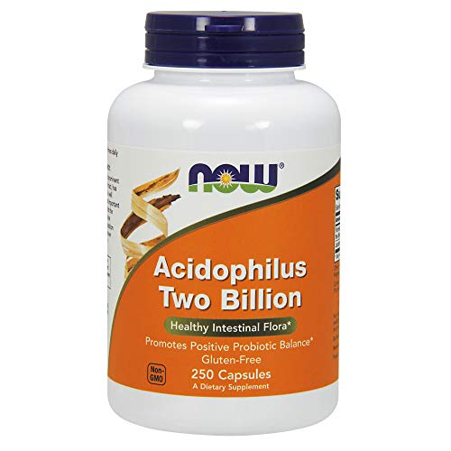 NOW Supplements, Acidophilus, Two Billion, Strain Verified, Healthy Intestinal Flora*, 250 Veg Capsules
