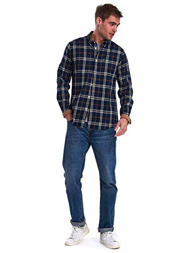 Barbour Herren Hemd Highland Check 20 Tailored Shirt blau/grün - XL