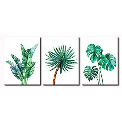 Amazon - Save 70%: JiazuGo – Natural Art Simple Green Banana Leaf Botanical Canvas Wall Art…