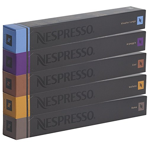NESPRESSO Sortiment, 50 Original Kapseln - 10x Cosi, 10x Arpeggio, 10x Roma, 10x Vivalto Lango, 10x Volluto