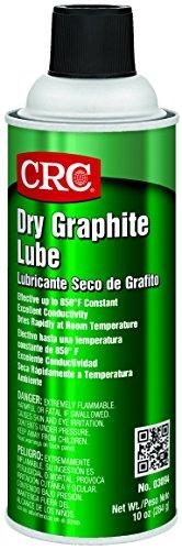 CRC Dry Graphite Lube, 10 oz Aerosol Can, Black