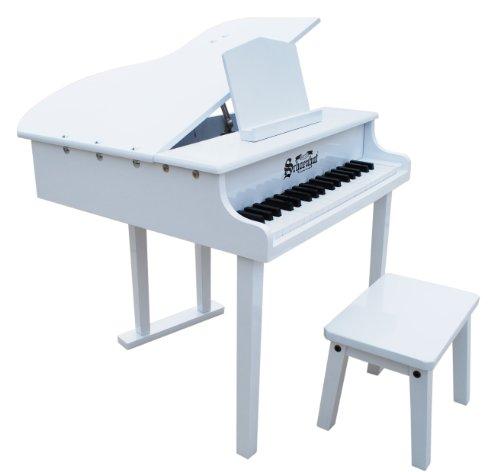 Schoenhoed concert-piano met 37 toetsen, wit