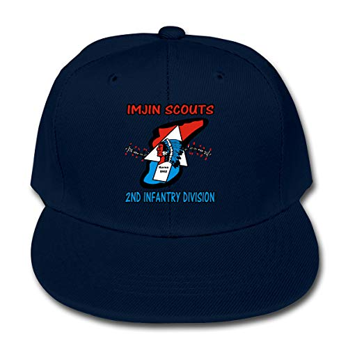 Little Boys Hats Imjin Scouts - 2nd Id Snapback Caps Baseball Casquette Hats Unisex Navy