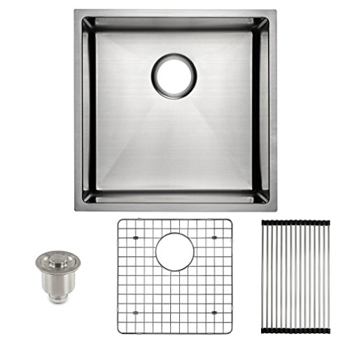 """FRIGIDAIRE Undermount Stainless Steel Kitchen Sink, 10mm Radius Corners, 16 Gauge, Deep Basin, 19"""""""