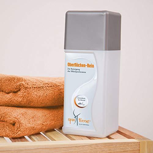 SpaTime by BAYROL - Oberflächen-Rein 1,0 L - Für die Whirlpoolreinigung, löst Ruß und fettigen Schmutz