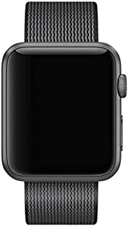 WOVEN NYLON BAND STRAP FOR APPLE WATCH 42MM black , 2724336718689