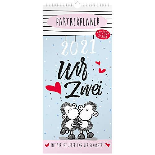 Sheepworld Partnerkalender 2021, Kalender für zwei, Planer für 2-2021, Wandkalender für Paare