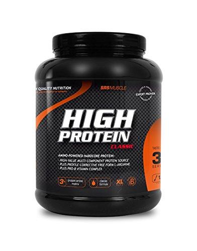 SRS Muscle - High Protein XL, 1.000 g, Vanille | 3+1 Mehrkomponentenprotein | optimiert auf biologische Wertigkeit | aspartamfrei | laktosereduziert | deutsche Premiumqualität
