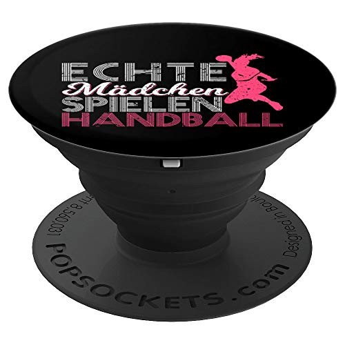 Echte Mädchen Spielen Handball Handballspielerin - PopSockets Ausziehbarer Sockel und Griff für Smartphones und Tablets