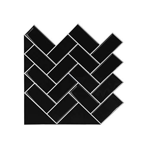 ZYLE Mehrfarbige Selbstklebende Stereo-Wandpaste, wasserdichte Innenmöbel Türschreibtischschalter dekorative Tapete (Color : Black)