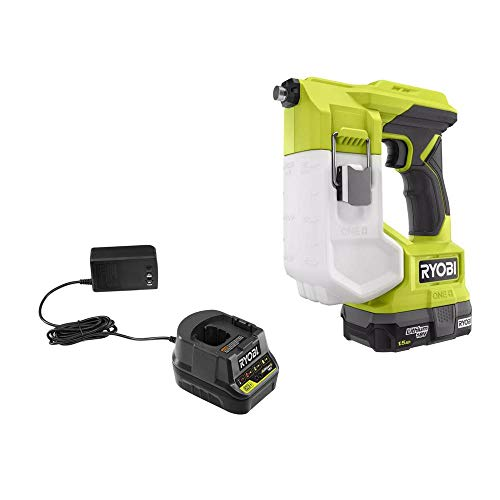 Ryobi One 18V Cordless Handheld Sprayer Kit with (1) 1.5 Ah Battery and Charger