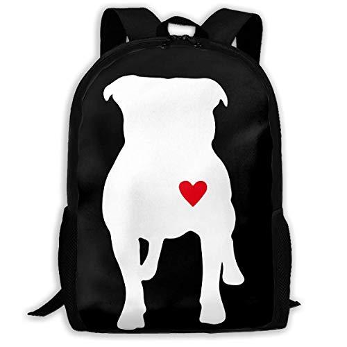 ADGBag Pitbull Heart Fashion Outdoor Shoulders Bag Durable Travel Camping For Kids Backpacks Shoulder Bag Book Scholl Travel Backpack Mochila para niños