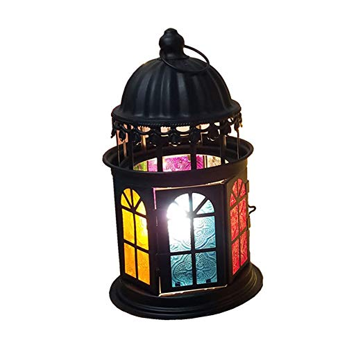 XZYP Kreative Princess Castle Schlafzimmer Nachttischlampe, Himalaya Himalaya-Salz-Lampe, Geschenk-Lampe, Souvenirs, dimmbar,Schwarz
