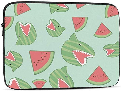 Watermelon Shark Laptop Sleeve Bag - Evecase 15 Inch Neoprene Universal Sleeve Zipper Sleeve Cover Case for Notebook