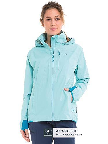 Schöffel Damen Jacket Neufundland4 wind- und wasserdichte Damen Jacke mit Pack-Away-Tasche, angel blue, 38