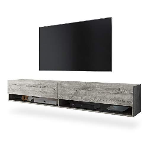 Selsey Mueble bajo para TV (180 x 31 x 30 cm), color gris