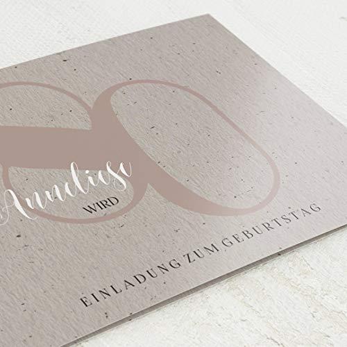 Einladungskarten Geburtstag, Geburtstagskind, 80. Geburtstag 5er Klappkarten-Set C6, personalisiert mit Wunschtext, wahlweise mit persönlichen Bildern und optional mit passenden Design-Umschlägen