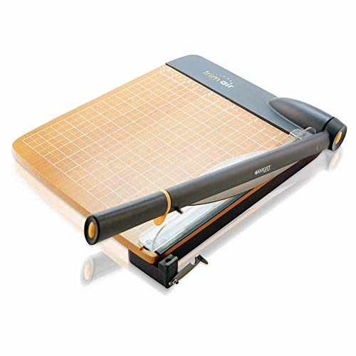 Westcott ACM15106 TrimAir Titanium Wood Guillotine Paper Trimmer with Anti-Microbial Protection, 12',Multi