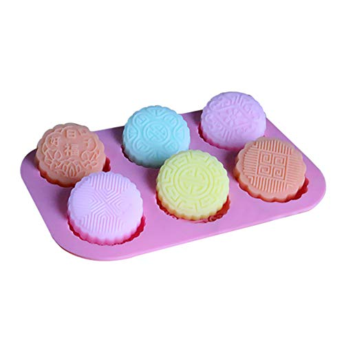 Outflower. Silikon Backform Handgemachte Seifenform Mooncake Form Kerze Form 25,5 * 17,5 * 1,5 cm(Rosa)