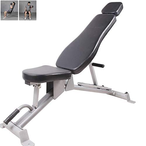 HAOYF Sit-Up-Trainingsgerät, kommerzielle Hantelbank, Heimbankdrücken, multifunktionaler Fitness-Stuhl, verstellbares Bauchtrainingsgerät (Farbe: Schwarz, Größe: 130 x 40 x 44 cm)