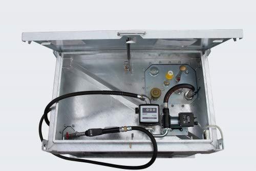 Kraftstoffcontainer Quadro-CV Mobile Tankstelle Rietberg Diesel/Benzin Diesel, Pumpe Elektropumpe 12/24V, Größe 450 Liter