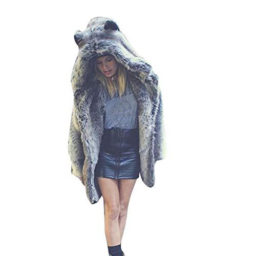 Adelina bontmantel dames elegante winter bontjas nepbont pluizig lange mouwen meisjes warme capuchon mantel hoogwaardige outdoorwear