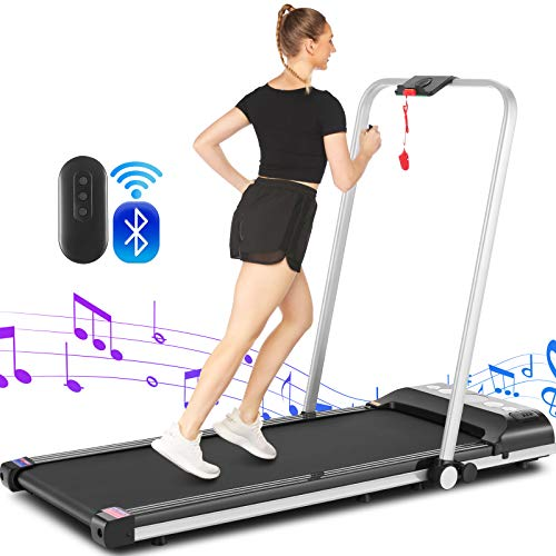 Sytiry Desktop Treadmill, 2-in-1 Walking Machine, Home Treadmill with Bluetooth Audio, 2HP Folding Treadmill, Indoor Walking Machine for Home and Office Exercise