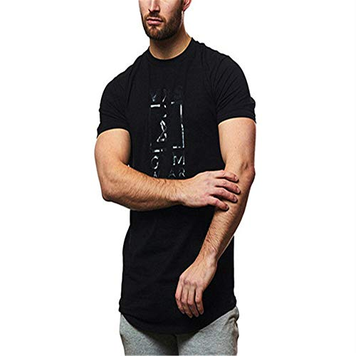 Camiseta de Manga Corta para Hombre Algodón de Verano...