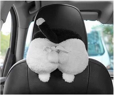 Chris.W Cat Butt Car Tissue Holder Sun Visor Napkin Box Vehicle Backseat Tissue Case Holder for Home