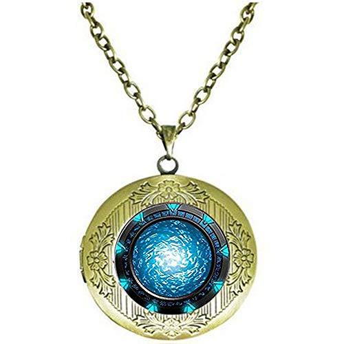 Stargate Portal Atlantis Schlüsselanhänger, Stargate Portal, Atlantis Schlüsselanhänger, Stargate Portal, Atlantis Schlüsselanhänger. Medaillon-Halskette, Literaturschmuck