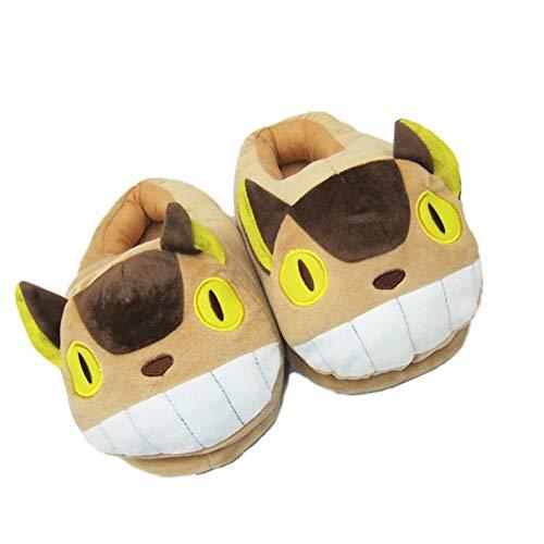 Totoro Hausschuhe für den Innenbereich, kuschelig, weicher Plüsch, warm, für den Innenbereich, Herbst und Winter, 5...