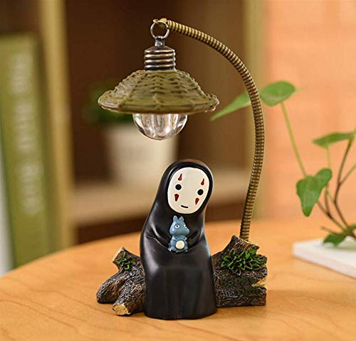 HLZL-No Face Man Night Light Table Lamp Children Gift Kids Toy Home Decor Craft Decorative Lights (Blue-Totoro)