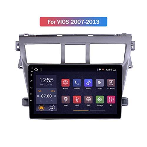 HBWZ para Toyota Vios 2008-2013 Android 9.0 Car Stereo Radio Double DIN Sat Nav Navegación GPS Reproductor Multimedia con Pantalla táctil de 9 Pulgadas Receptor de Video con 4G...