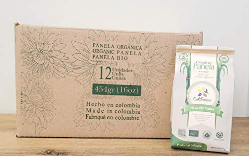 Organic Panela - Made in Colombia (12 Pound ( Box of 1 pound ))