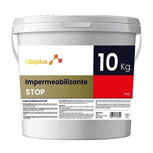 Revestimiento Elástico Impermeabilizante Stop Pintura para Impermeabilizar parámetros horizontales en Terrazas, Azoteas, Balcones y Tejados · Color Rojo Teja · 10 Kg (8,3 L)