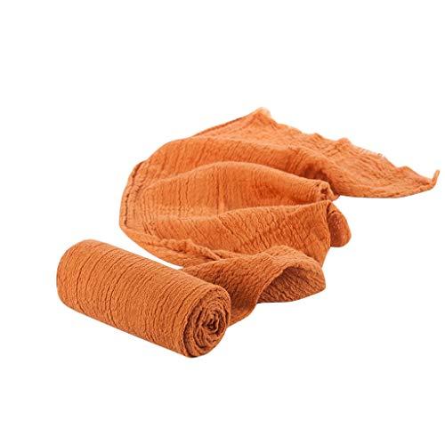 Wrap Photographie Prop Hamac pour bébé Photographie Les Accessoires Couverture Rayonne Wraps écharpe Tricot Extensible Photo Nouveau-né Wraps (Orange)