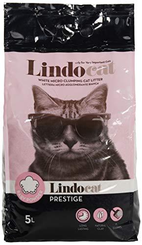 LINDOCAT Prestige Lettiera Micro Agglomerante Bianca per Gatto da 5 Litri bentonite