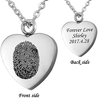 cremation jewelry fingerprint