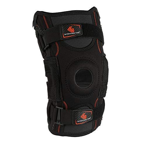 Shock Doctor Men's Ultra Knee Support with Bilateral Hinges-Black, Large