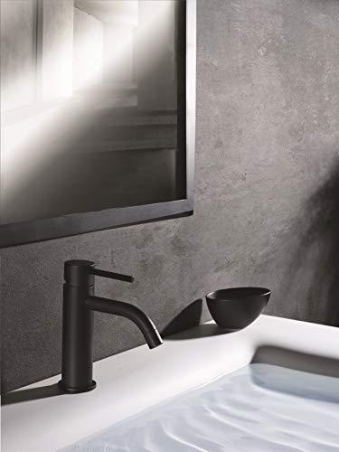 Paffoni Rubinetteria - Grifo para lavabo sin desperdicio, LIG071 - RUB3994, color negro mate