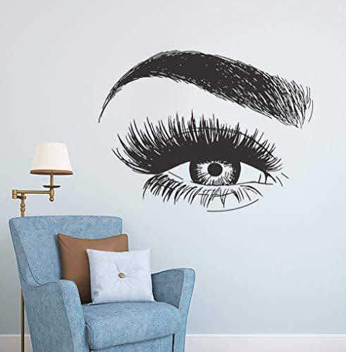 Stickers Muraux Autocollant Extension Des Cils Sourcils Maquillage Décor De Studio Beauté Lashes Fenêtre Affiche