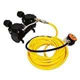 HPDAVV 3rd Lung Snorkeling Air Compressor 3pcs Set with 50ft ABS Breathing Hose & Scuba Diving Regulator Powered by 12V DC Battery