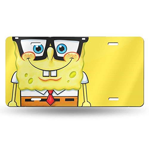 Suzanne Betty Aluminum License Plates - Spongebob Squarepants License Plate Tag Car Accessories 12 X 6 Inches