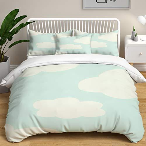 SHJIA Funda de edredón con Estampado de Oso Azul Suave y cómoda, Ropa de Cama tamaño Queen de poliéster de fácil Cuidado, Textiles para el hogar de Dormitorio Unisex